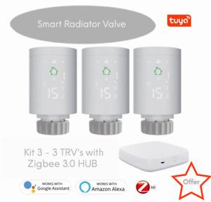 Smart Home Zigbee 3.0 Radiator Valve Smart Programmable Thermostat (TRV) Kit 3