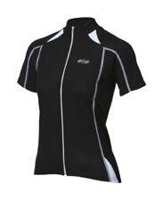 Maillots de ciclismo de manga corta negra de mujer