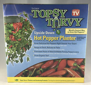 Topsy Turvy Upside Down Hot Pepper Planter A Seen On TV New Old Stock 2008