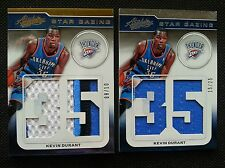 KEVIN DURANT 2012-13 PANINI ABSOLUTE STAR GAZING JERSEY PATCH LOT (2) #/10 RARE!