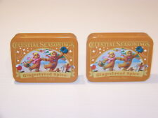 CELESTIAL SEASONINGS GINGERBREAD SPICE COLLECTIBLE TINS (2)