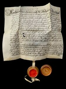 SAINT JOHN'S CHURCHYARD PARCHMENT with Wax Seal 1800