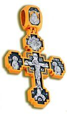 Крест Святой Илья Пророк, Russisch-Orthodoxe Silber 925 + Gold 999  Kreuz