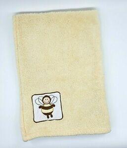 Northpoint Baby Blanket Yellow Honey Bee Sherpa Plush Soft Boy Girl B74