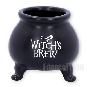 SET OF 4 WITCHES BREW POT CAULDRON WICCAN PAGAN GOTHIC OCCULT 7CM