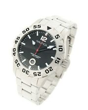 Orologio Nautica Uomo bracciale acciaio subacqueo WR 100m diver watch A17549G