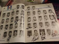 Detroit Tigers 1993 Program Signed by 13 Players