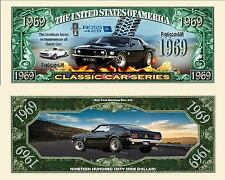 1969 Ford Mustang Boss 429 Collectible Dollar Bill Fake Funny Money Novelty Note