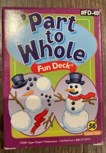Super Duper Publications Part to Whole Fun Deck #FD-40 Speech/Language Therapy