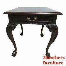Century Furniture Claridge Ball Claw Mahogany Lamp End Table B