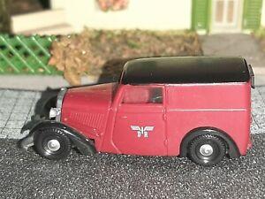 Brekina DKW F7  DR ,rot Lieferwagen mit IFA