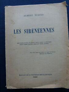 LES SIRENEENNES A. TUSTES 1928 BEL ENVOI + LAS A HAN RYNER ALGERIE POESIE