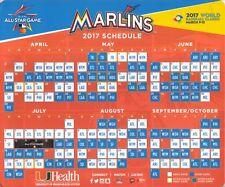 Miami Marlins--2017 Magnet Schedule--All Star Game Logo