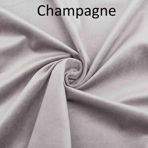 CHAMPAGNE  Plush Plain FIRE RETARDANT Velvet Upholstery / Curtain Fabric