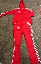 Adidas Originals 90's Vintage Indiana Tracksuit Top And Bottoms. Size Large