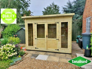 PENT SHED SUMMERHOUSE GARDEN OFFICE SUMMER HOUSE MAN CAVE DELIVERY SUMMER HOUSE