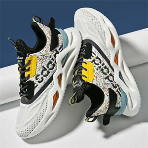 Men's Fashion Sports Shoe Mesh Breathable Lightweight Gym Jogging Trainers Shoes