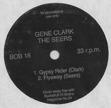 "GENE CLARK - FLEXI DISC from Bucketful of Brains mag.24 - ""Gypsy Rider"" NM"
