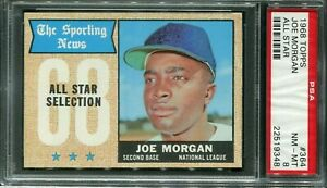 "1968 Topps #364 Joe Morgan ""All Star"" PSA 8 NM-MT"