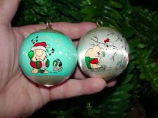 (2) 1979 - satin ball - ZIGGY CHRISTMAS ORNAMENTS