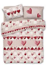 Copripiumino Matrimoniale Amore Romantico Rosso in Cotone Made in Italy