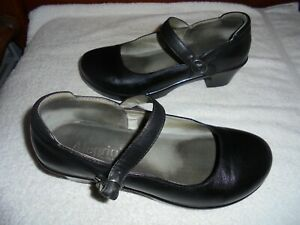 ALEGRIA LADIES BLACK LEATHER MARY JAYNE SHOES SIZE 41  10  EX COND