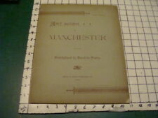 1892 ART WORK of MANCHESTER (NH) part 11 -- w pics of important town buildings
