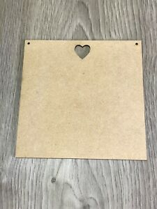 15CM X 15CM BLANK PLAQUE WITH HEART CUT OUT **ALSO IN OAK VENEER**
