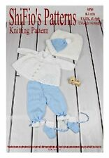 KNITTING  PATTERN BOYS JACKET HAT TROUSERS  BOOTIES & BLANKET #69 NOT CLOTHES
