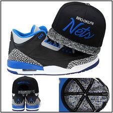 Mitchell & Ness filets Brooklyn Personnalisé Casquette Snapback pour Jordan 3