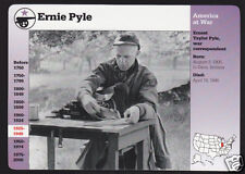 ERNIE PYLE War Correspondent Journalist WW2 Photo GROLIER STORY OF AMERICA CARD