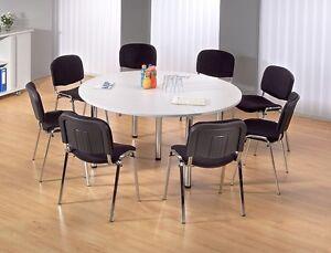 Konferenztisch rund Besprechungstisch Tisch 160 cm Seminartisch Meetingtisch