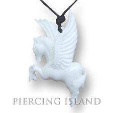 Pegasus Amulett Anhänger Kette inklusive Band Bone Horn PB151