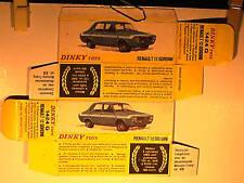 REPLIQUE BOITE RENAULT 12 GORDINI DINKY TOYS 1972