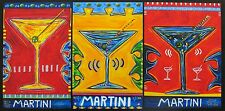 """LISA GRUBB """"TRIPLE MARTINI"""" Hand Signed Limited Edition Giclee on Canvas"""