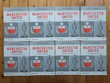 Manchester United - All 8 programmes of the Australian Tour 1967