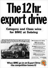 MG MGC GT SEBRING RACER RETRO POSTER A3 PRINT FROM CLASSIC 1968 ADVERT