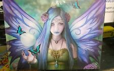 Canvas Picture Wall Plaque Gothic Art Anne Stokes Mystic Aura Size 25x19 cm  New