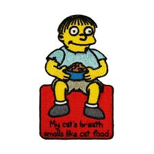 The Simpsons Ralph Patch My Cat's Breath Smells Like Cat Food Embroidered IronOn