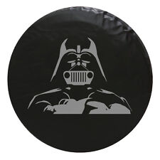 Jeep Star Wars Darth Vader Grill  Spare Tire Cover Size Req'd - Gray
