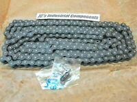 HKK   40 pitch  roller chain  riveted   single strand  10 feet