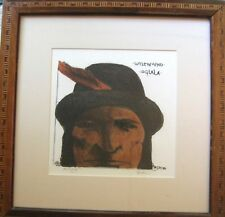 LITTLE WOUND LEONARD BASKIN SIGNED LITHOGRAPH ARTIST'S PROOF OGLALA SIOUX FRAMED