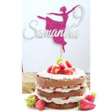 Ballerina Birthday Cake Topper Personalised custom 28 glitter option  decoration