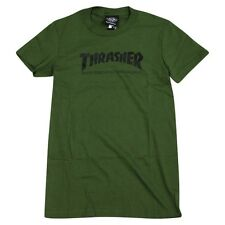 Thrasher Magazine Skate Mag Logo Skateboard *Girls Fit* Shirt Army Green Large