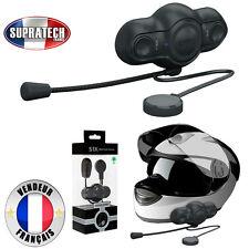 Kit Piéton Oreillette Bluetooth Noir pour Casque Moto Intégral et Perche Souple
