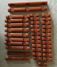 Vintage Lot of Lincoln Logs Different Sizes. 37 Replacement Pieces