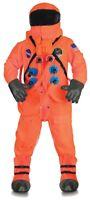 Orange Astronaut Suit Deluxe Costume NASA Space Halloween