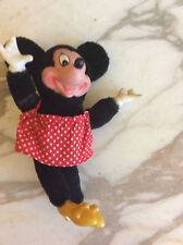 Minnie Mouse Doll vintage toys childrens, rubber face, hand, feet