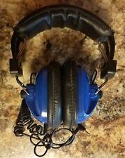 RACING ELECTRONICS TP-60 Blue NASCAR Racing Scanner Headphones Head Set TP60