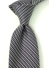"$250 NWT TOM FORD Purple Black & White Check Neat Silk Neck Tie Italy 3.25""W"